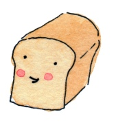 happy loaf of bread